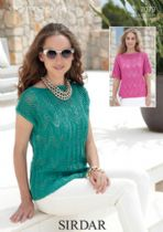 Sirdar Cotton DK Knitting Pattern - 7079 Summer Tops Knitting Pattern